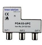 Braun POA3 UPC coax opdruk splitter (3x male out)