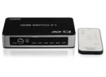 5-poorts 60Hz HDMI 2.0  splitter/switch Hi-End UHD 4K automatisch, PS4 Pro geschikt, met afstandsbediening