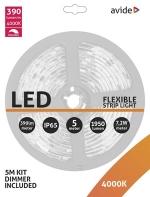 Avide Led Strip met dimmer 7,2W 1950Lumen 4000k wit IP65 5m