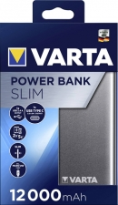 Varta Portable Powerpack Slim 12000 mAh met USB C en USB A