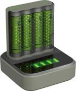 Gp M451 USB snel powerbank lader met dockingstation incl en 4 x Recyko AA