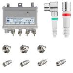 FRA-752X 1218 MHz antenneversterker met installatiepakket