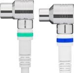 1.5m Coaxkabel Technetix Ziggo geschikt Wit kabelkeur 4G/LTE-Proof