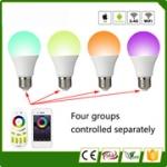 2x full colour RGBW 9W E27 + afstandsbediening