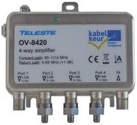 Teleste OV-8420 1218 MHz (2021) kabelkeur Ziggo geschikt antenne coax versterker
